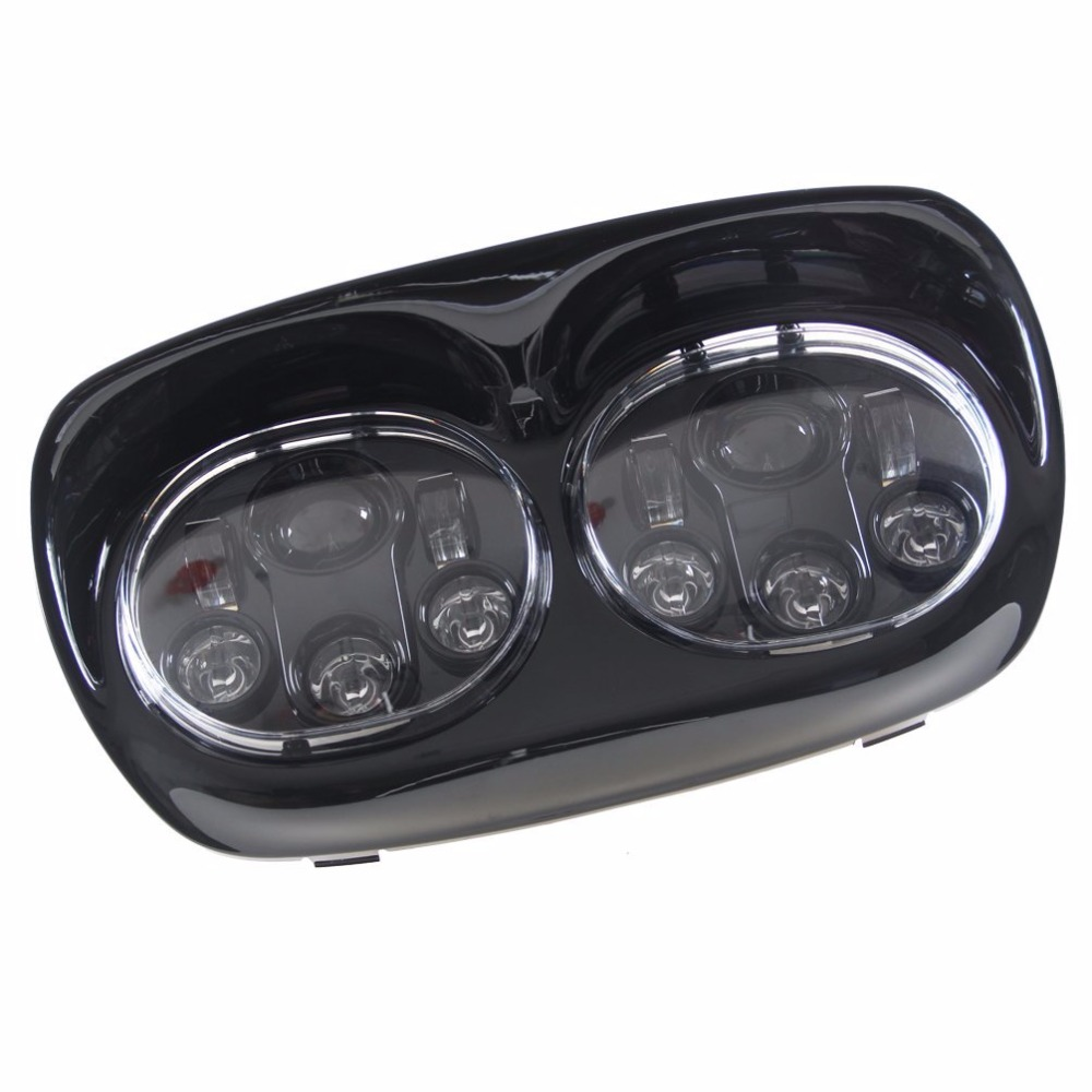 Promotion! 7 Motorcycle Projector Day Maker Dual LED Headlight for Harley Davidson Road Glide