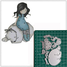 Metal Cutting Dies Little doll Bear 2019 Scrapbooking Craft Cut Stamps Embossing Stencils Invitation Card