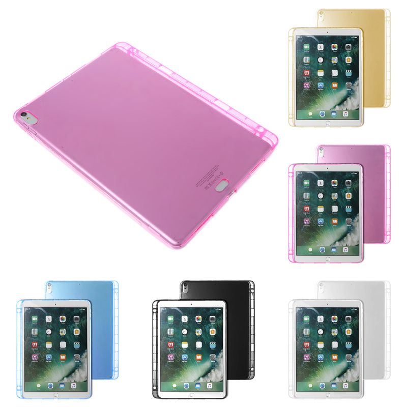 Protective Cover Case Soft Silicone Pencil Holder Slot TPU Back Cover Skin Accessories for Apple iPad Pro 11inch