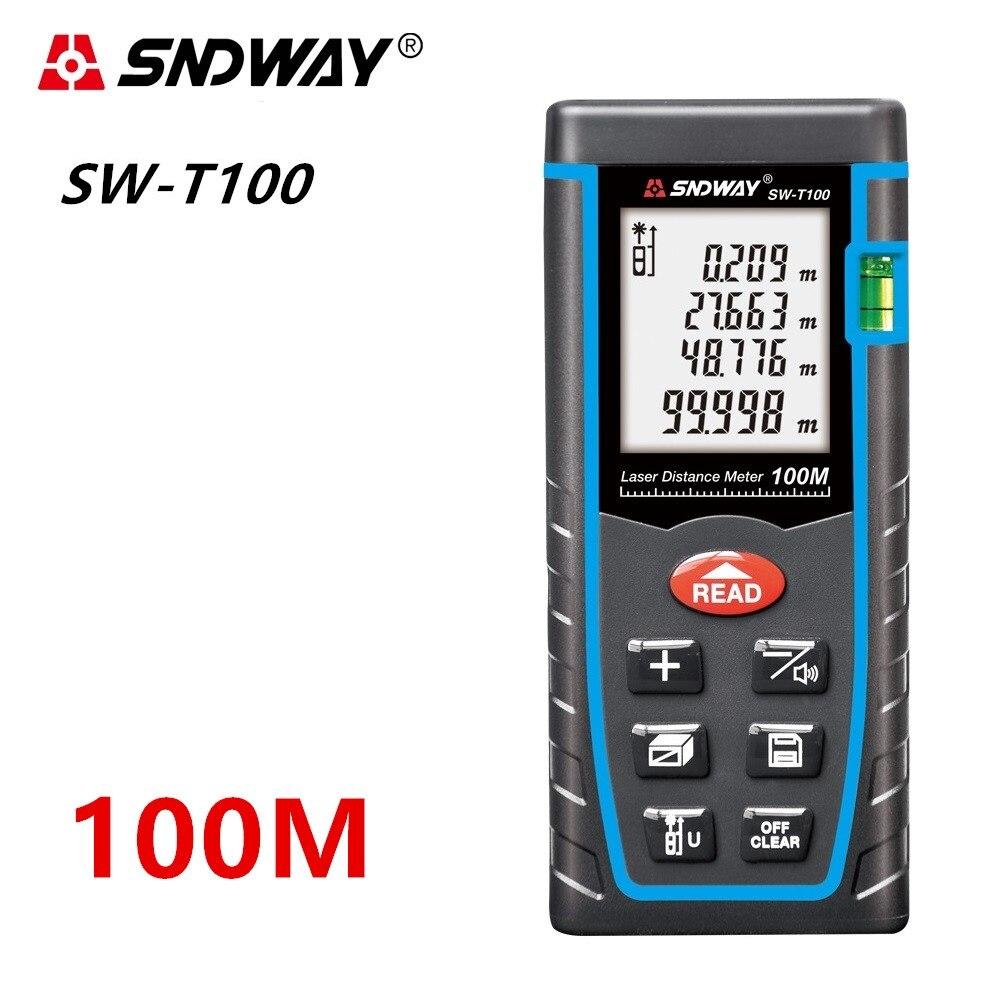 SNDWAY Laser medidor de distância A Laser Range finder telêmetro Metro trena A Laser 40M 60M 80M 120M governante Roleta Diastimeter