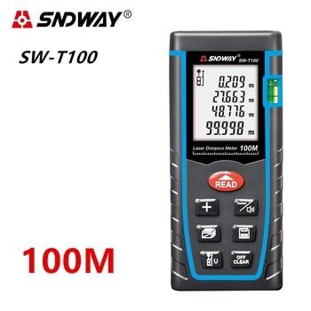 SNDWAY telemetro Laser distance meter Laser Range finder misura di nastro Laser Metro 40M 60M 80M 120M righello Roulette Distanziometro