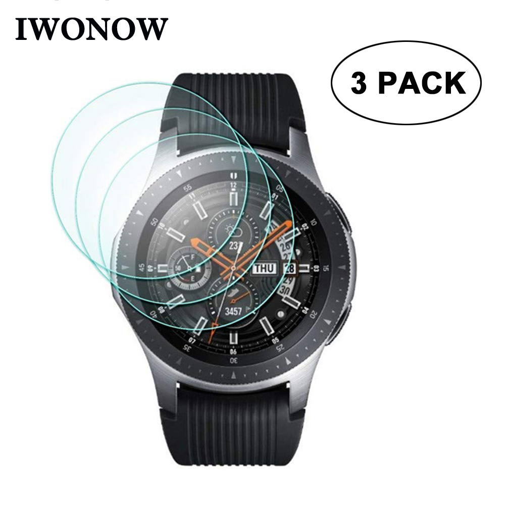 9H Hardness Tempered Glass For Samsung Galaxy Watch Band 42mm 46mm SM-R810/R800 Screen Protector Anti Scratch Protective HD Film
