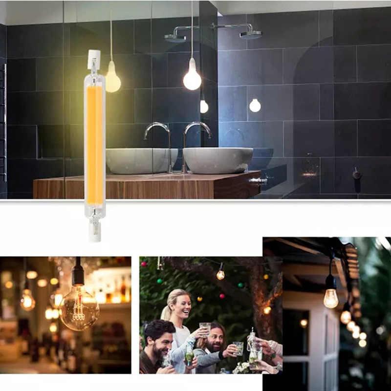 Dimmable Glass Tube COB R7S LED Lamp 15W 30W 40W 50W 78mm 118mm LED COB R7s J78 J118 Light Bulb 220V 230V Replace Halogen Light