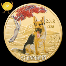 German Shepherd Dog Commemorative Coin Reconnaissance of Enemy Forces Police Coins Collectibles Honor Medal