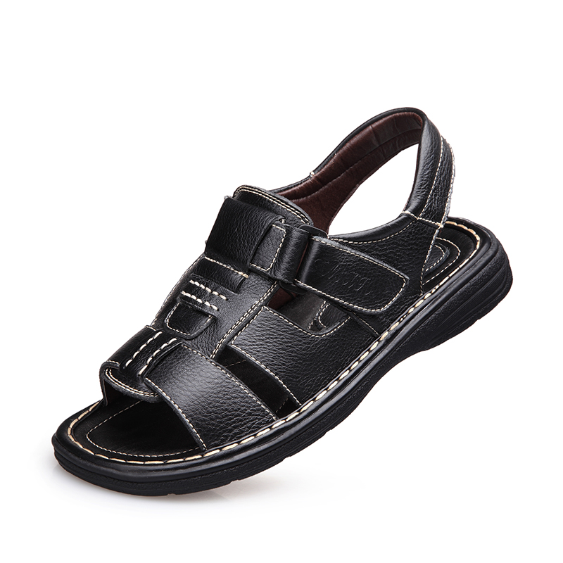 Men Sandals Slippers Genuine Leather Cowhide Male Summer Shoes Outdoor Casual  Sandals  Beach Shoes