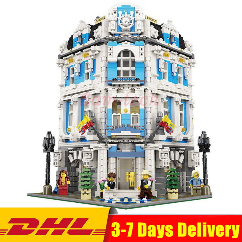IN Stock DHL LEPIN 15018 3196pcs Creator City Series Sunshine hotel MOC Model Building Kits Brick Toy Compatible Christmas gifts in stock with light 15019b 4122pcs lepin 15019 4002pcs assembly square city serie model building kits brick toy compatible 10255