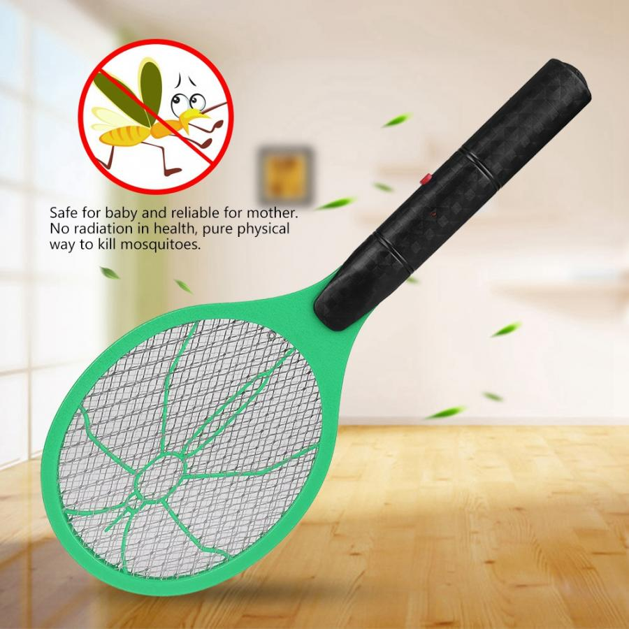 Handheld Battery Zappers Bug-Racquet Mosquito Killer Electric Fly Cordless Insect Summer
