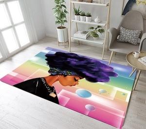 LB женский ковер в Африканском и американском стиле, нескользящий ковер для гостиной, дома, спальни, напольная Подушка, ванная комната, кухня