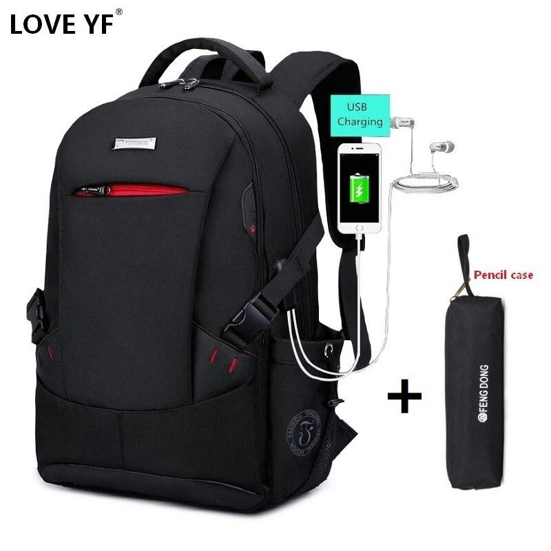 New Men's Backpack Usb Laptop Bag Large-capacity Travel Bag Smart Outdoor Waterproof Travel Bag College Bag Mochila