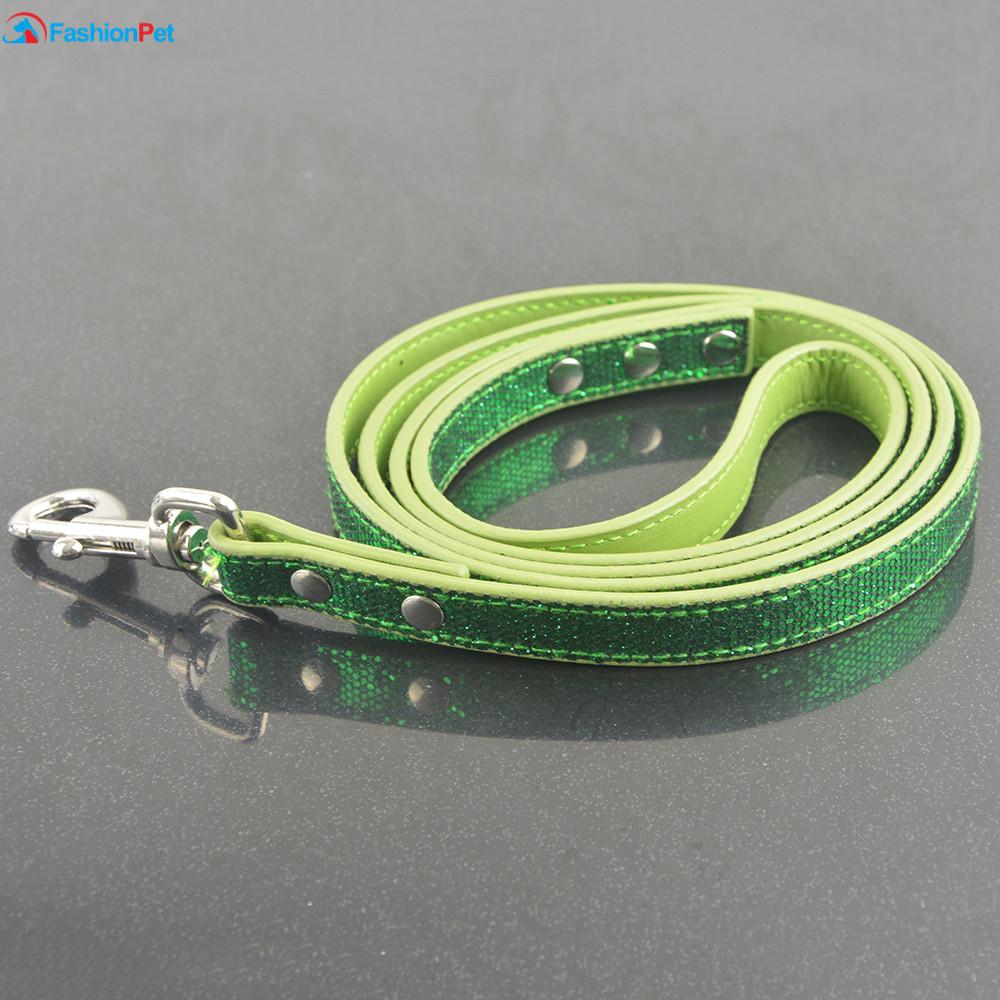 Hot Sale Ny Mode Bright Læder 9 Farver Hund Pet Leash Lead Puppy Cat - Pet produkter - Foto 6