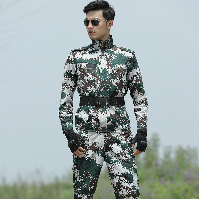 New Men Woodland Camouflage Army Military UniformTactical Combat Suit Airsoft War Game CS Clothing Jackets + Pants Working Suits