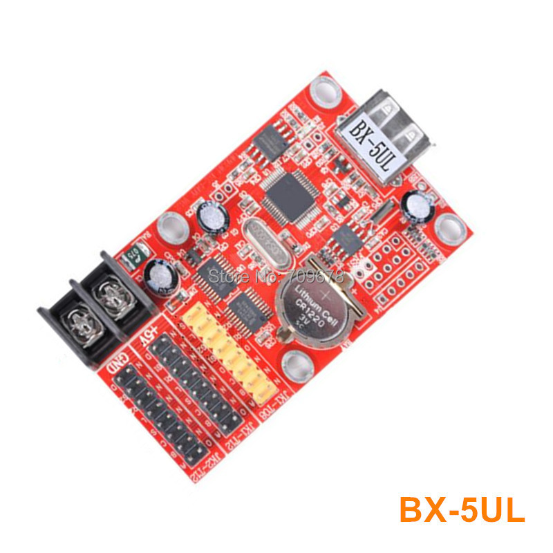 Onbon BX-5UL/BX-5UL(USB) Single Color and Dual Color LED Message Signboard LED Controller 5pcs/lot
