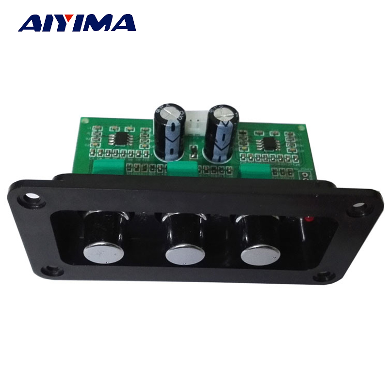 Aiyima NE5532 HIIF Lossless Audio Treble Bass Adjustment Tone Board For Digital Amplifier Active Loudsperker Volume Control hot 3pcs steel chrome electric guitar bass tone volume speed control knobs dome top