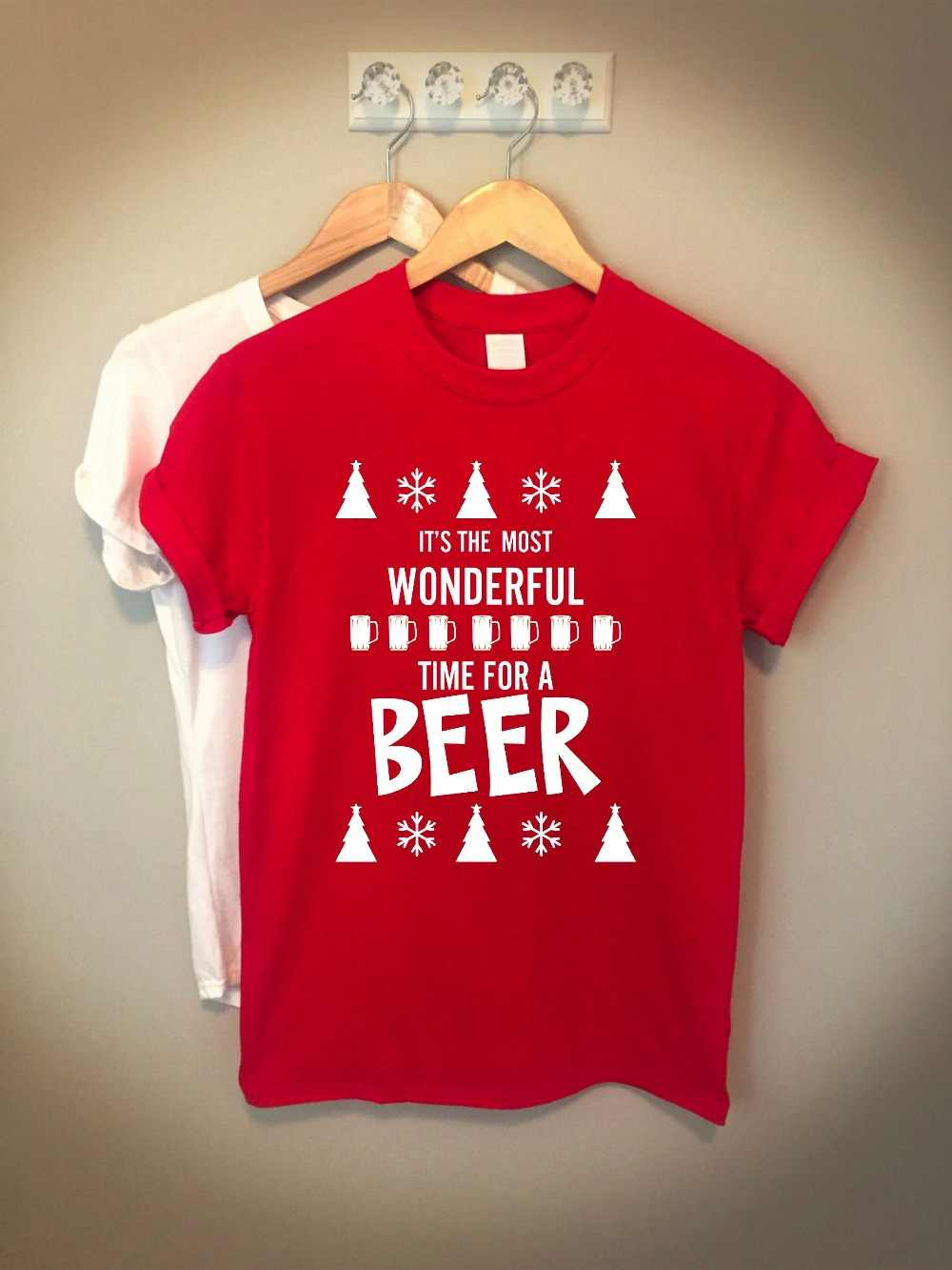 bb9e68597e Detail Feedback Questions about It is most wonderful time for beer t shirt  Christmas celebration Gift For family Drinking Shirt red party shirt  aesthetic ...