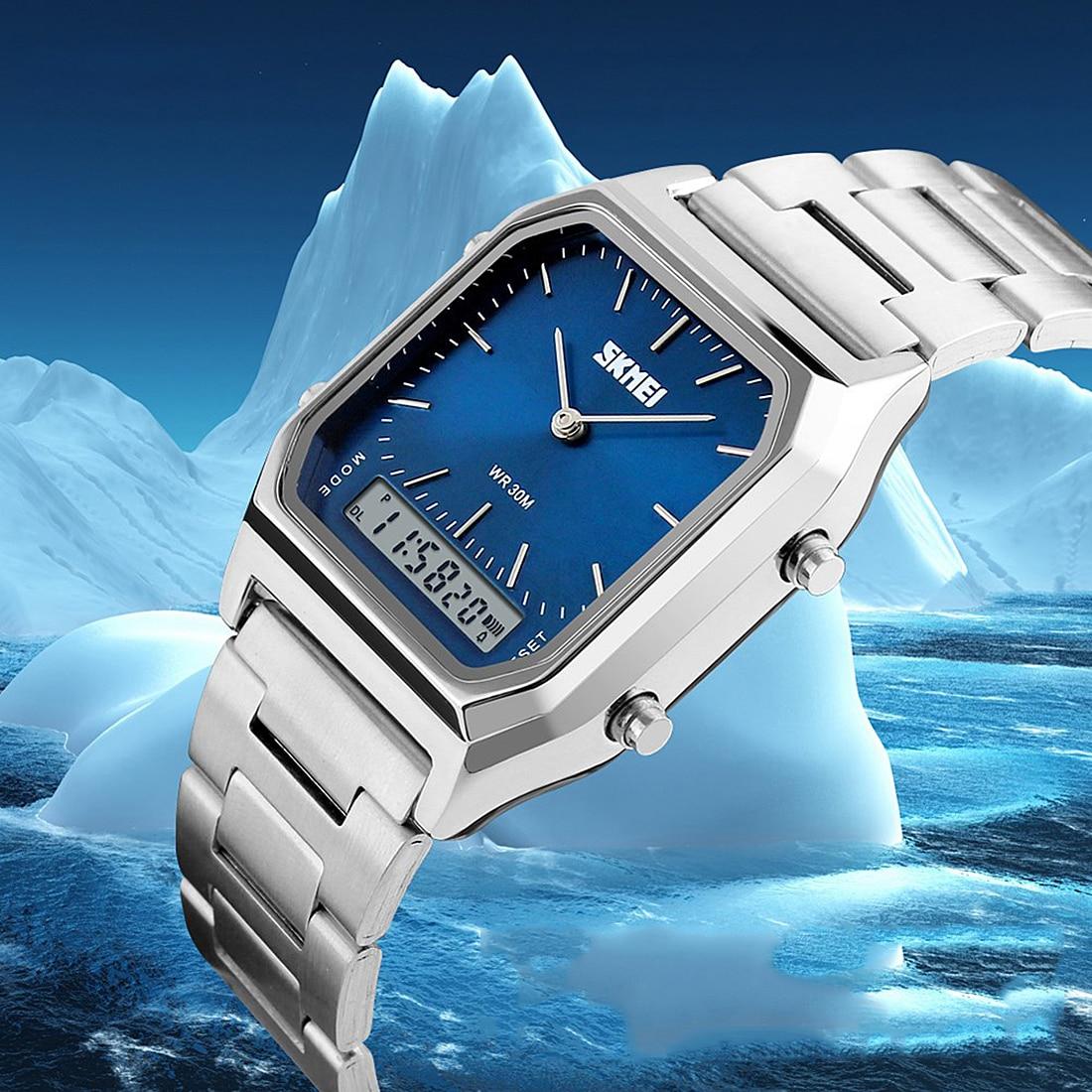 все цены на Quartz Watch Men's Casual Business Women Men Watch Waterproof Casual Watch Stainless Steel Wristwatch Clock Relogio Masculino