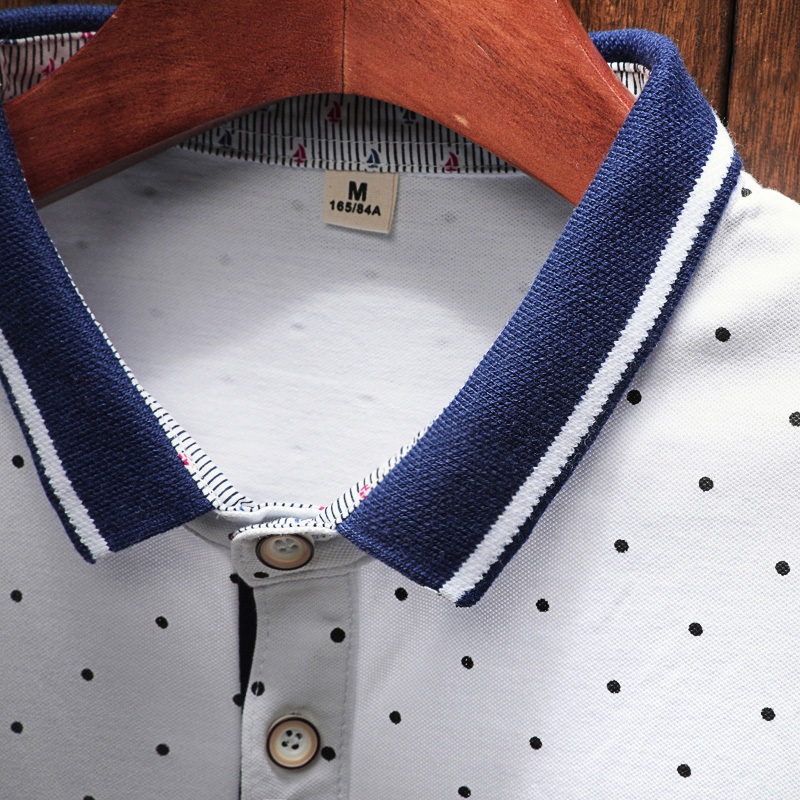 2018 New Brand Polos Mens Printed POLO Shirts Cotton Short Sleeve Camisas Polo Casual Stand Collar Male Polo Shirt 6
