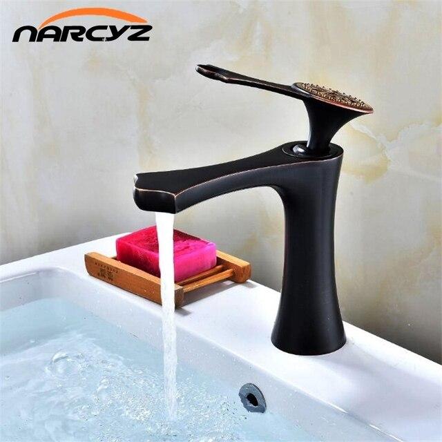 Basin Faucets Modern Whiteblack Faucet Single Hole Bathroom Faucets