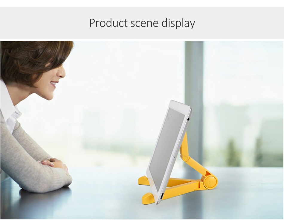 !ACCEZZ ABS Universal Phone Holder For iPhone X 8 7 6s Plus Stand Support For iPad Desktop 180 Degree Adjustable Tablet Bracket (18)
