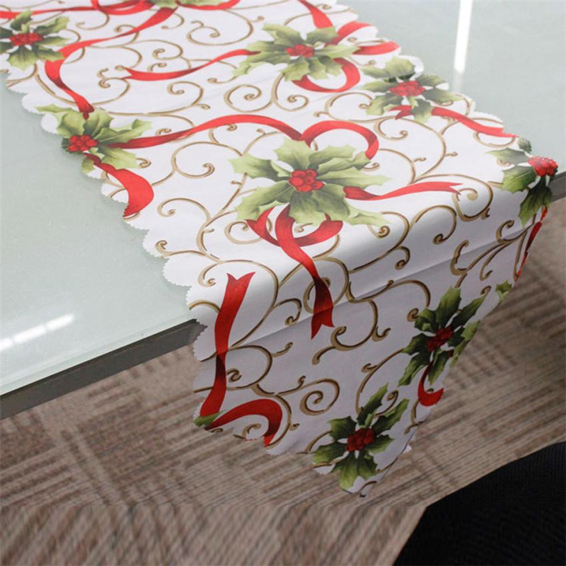 14x71 inch decorative christmas table runner xmas home for Table runners 52 inches