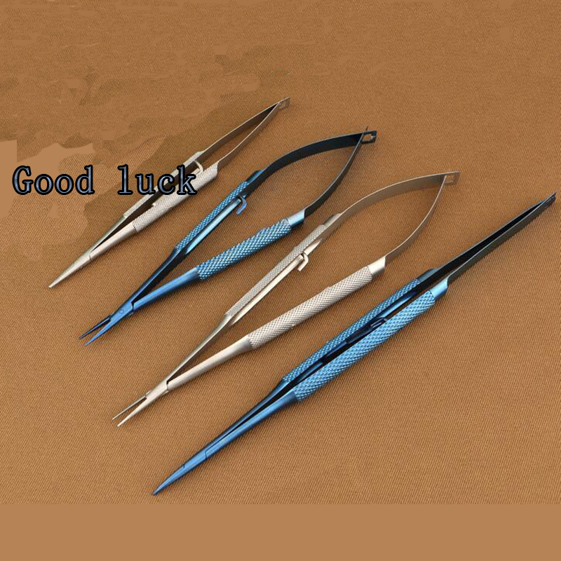 18cm Lock Titanium Needle Holder Microsurgical Instruments straight head Surgical Ophthalmic Needle Holder Clamp Tool