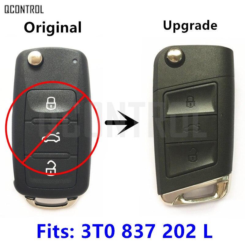 QCONTROL Car Remote Key Suit for SKODA 3T0837202L Citigo/Fabia/Octavia/Rapid/Roomster/Superb/Yeti 5FA010413-12 with ID48 Chip