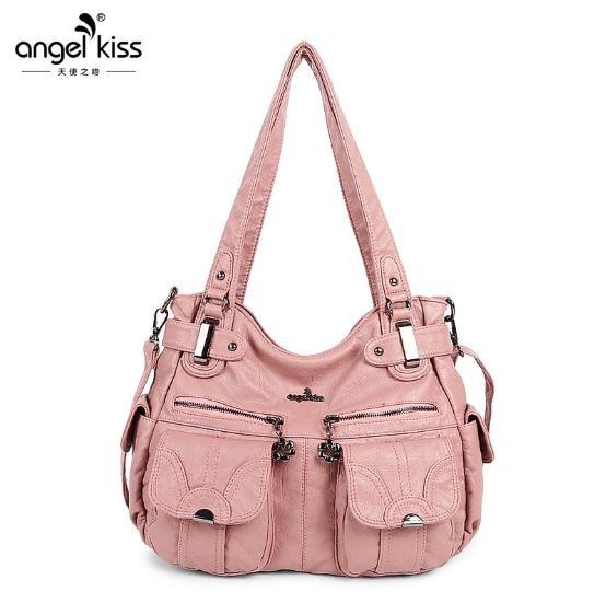 Ange baiser dames Hobo sac à bandoulière sac à main en cuir PU