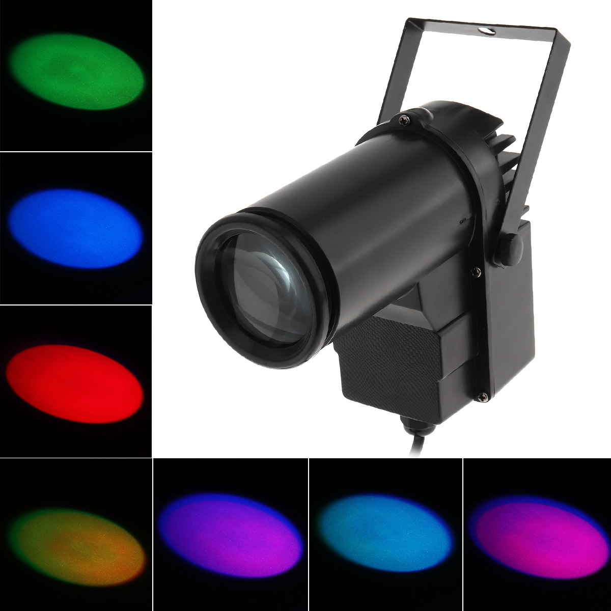 New 10W LED RGB Beam Stage Light Spotlight Super Bright Lamp Full Color for DJ Disco / Bar / KTV цена