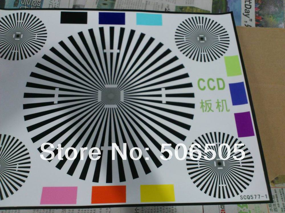 CCTV Camera Test Chart For Camera Focusing  Test