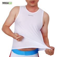 WOSAWE Cycling Jersey White Mesh Cycling Vest Sleeveless Bike Bicycle Undershirt Summer Cycling Clothing Jerseys
