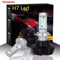 Voiture LED Phare Plug And Play G7 LAMPADE H7 55 W 8000Lms H7 Pour Philips Puce Lumileds Luxeon ZES LED Phare Conversion Kit