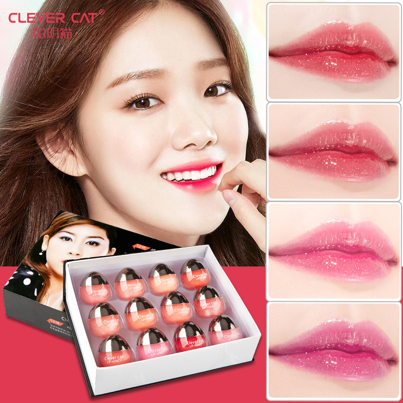 Fruit Moisturizing Plumper Enhancer Lip Balm Beeswax Plant Ingredients Vitamin Lip Gloss Sleeping Crystal Translucent Lip Mask 2
