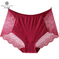Transparente de encaje sexy underwear mujeres spandex más tamaño alta underwear sexy bragas bragas de color rosa xxl 3xl 4xl k036