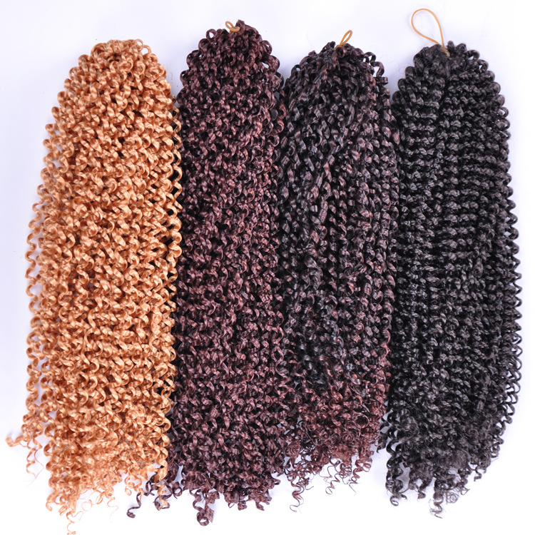 Pre loop Crochet Braid Sintetico Curly Crochet Hair Water Wave Crochet ...