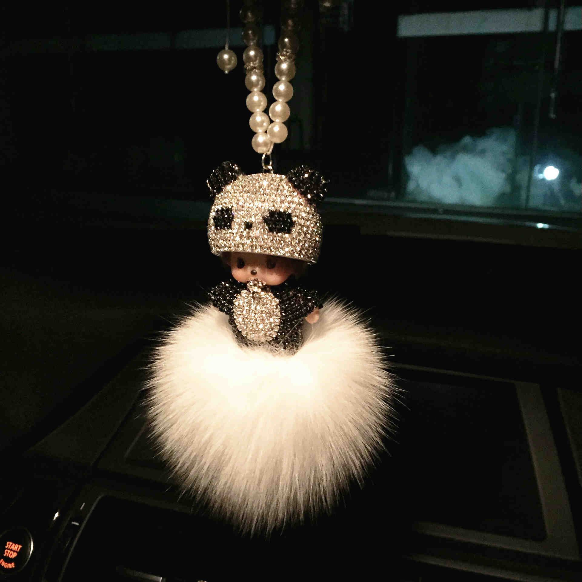 New pattern Car rearview mirror pendant crystal violence bear car accessories car mounted pendant hanging car