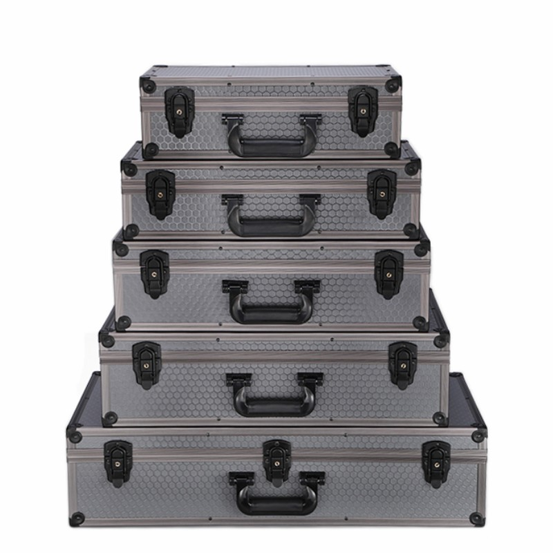 Aluminum alloy tool box suitcase Instrument Protection box shockproof aviation case Tool Cases     - title=