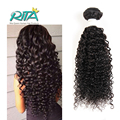 50g Por Paquetes Color Natural Del Pelo Virginal Brasileño Rizado Rizado Virginal Hair7A Curly Weave Extensiones de Cabello Humano de Calidad Superior