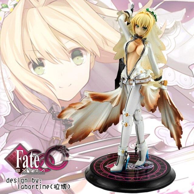 Anime PVC Garage Kits Fate/Extra CCC Bridal Gown of Bondage Saber Action  Figure Model