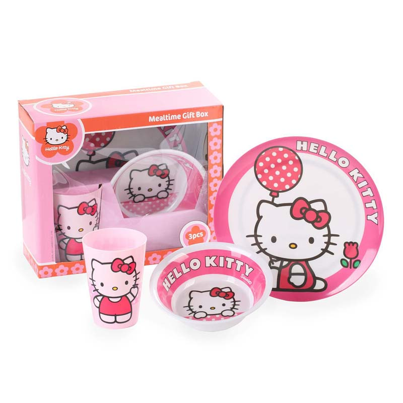 Cartoon Hello Kitty Sub-grid Plate Tableware Child Dishware Melamine Infant and Baby Feeding Dish  sc 1 st  AliExpress.com & Cartoon Cat Kid Dinner Bowl Cup Plate Set Sub grid Plate Tableware ...