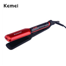 Cheapest prices Kemei LCD Display Flat Iron Digital Temperature Control Straightening Irons Ceramic Hair Straightener 120-230 Degree Adjustable