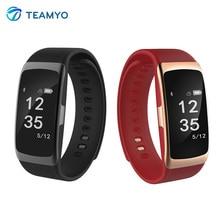 Teamyo S68 Bluetooth Smart Браслет сердечного ритма Мониторы умный Браслет IP68 Водонепроницаемый SmartWatch открытый часы