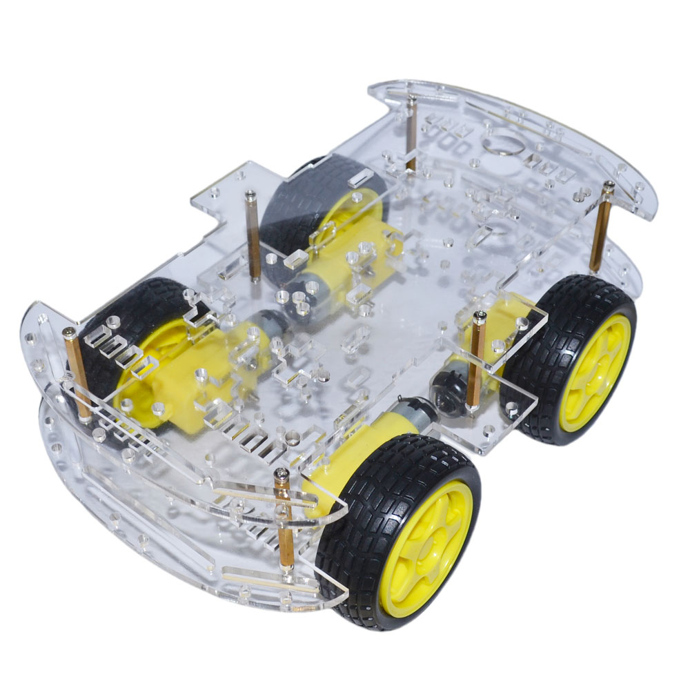 Dutiful Keyes 4wd Smart Robot Car Chassis Kits With Speed Encoder New For Arduino Consumer Electronics