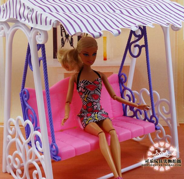 Fashion Swing set for Barbie doll American girl doll toy house furniture accessories 1 set 3 items barbie doll s bed furniture bed pillow bed sheet doll accessories for barbie doll play house girl gift kid toys