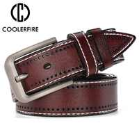 Men Genuine Leather Designer Belts Luxury Fashion Trouser Waistband Stylish Casual Belts With Black,Brown,Navy,Orange Color