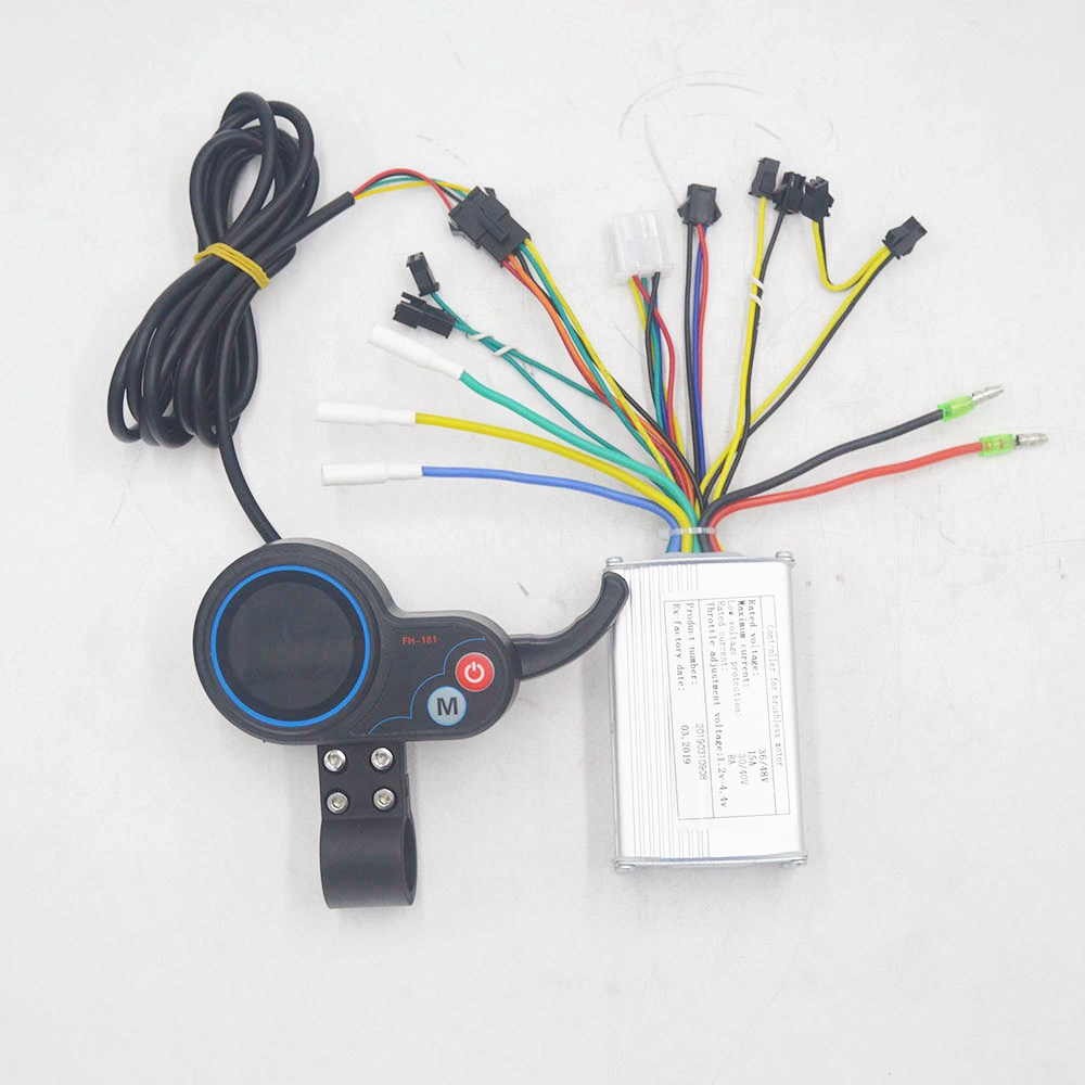 36V 48V 250W/350W Electric Bike Controller With LCD Display Thumb Throttle For Ebike Electric Scooter