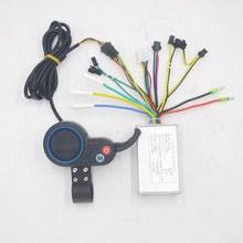 36V 48V 250W/350W ไฟฟ้าจักรยานคอนโทรลเลอร์จอแสดงผล LCD Thumb คันเร่ง EBike ไฟฟ้าสกู๊ตเตอร์