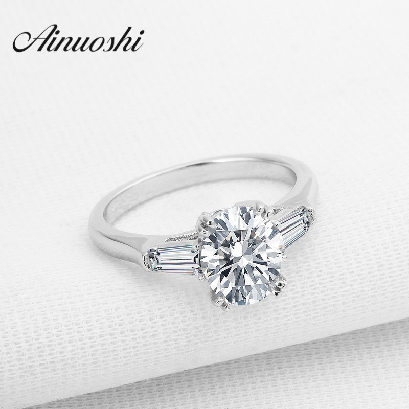 Real Pure 925 Sterling Silver Ring Sona Synthetic Simulated Oval Cut Woman Wedding Engagment Ring Brides Anniversary Finger Ring