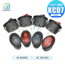 цена на 5pcs KCD7 Rocker Switch ON-OFF 2 Position ON-OFF-ON 3 Position 2Pins 3Pins Electrical Equipment Power Switch 6A 250V/ 10A 125VAC