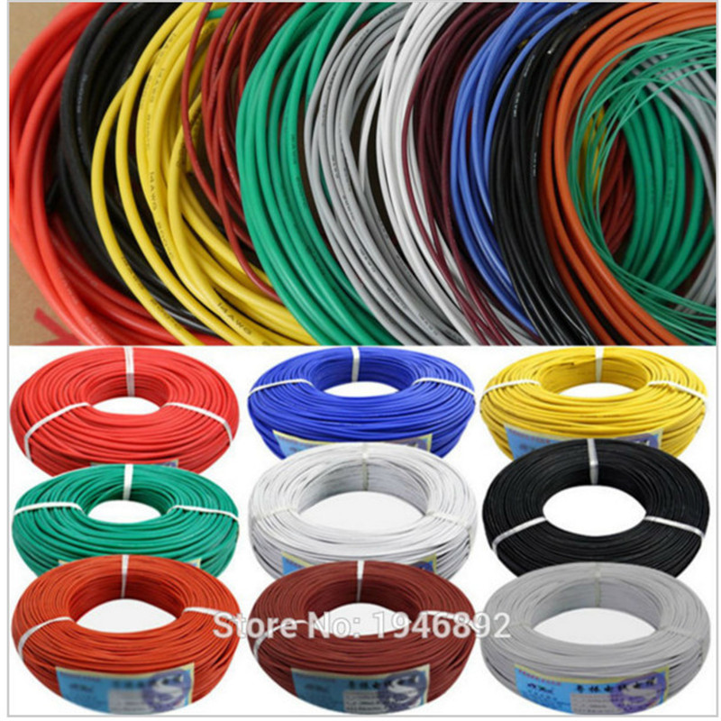 300 meters roll 984 ft 28AWG Flexible Rubber Silicone Wire Tinned copper line DIY Electronic cable