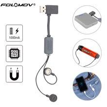 Folomov A1 18650 Батарея Зарядное устройство для литий-ионных батарей Универсальный Магнитный USB Зарядное устройство Мини зарядки/разрядки Мощность банк