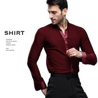 Male Latin Dance Shirts Men's Ballroom Black Dance Tops Men Latino Jacket Latin Dancing Clothes Modern Long sleeved B 5998